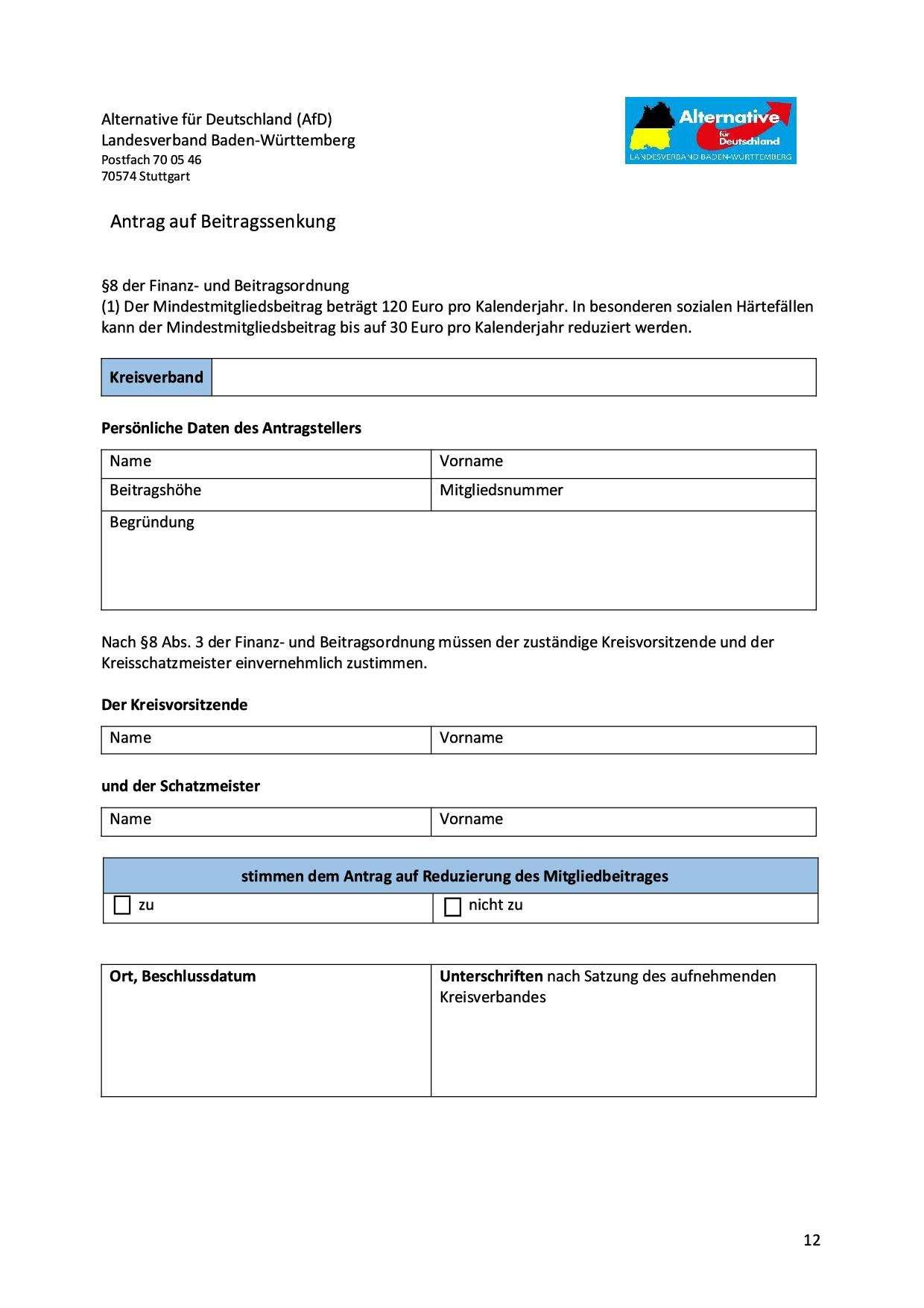 Antrag auf Beitragssenkung Version 1.81