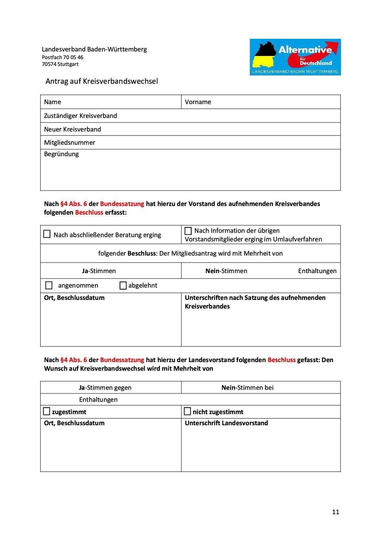 Antrag auf Kreisverbandswechsel Version 1.81